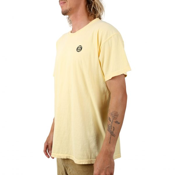 Burleigh Stencil Tee Washed yellow