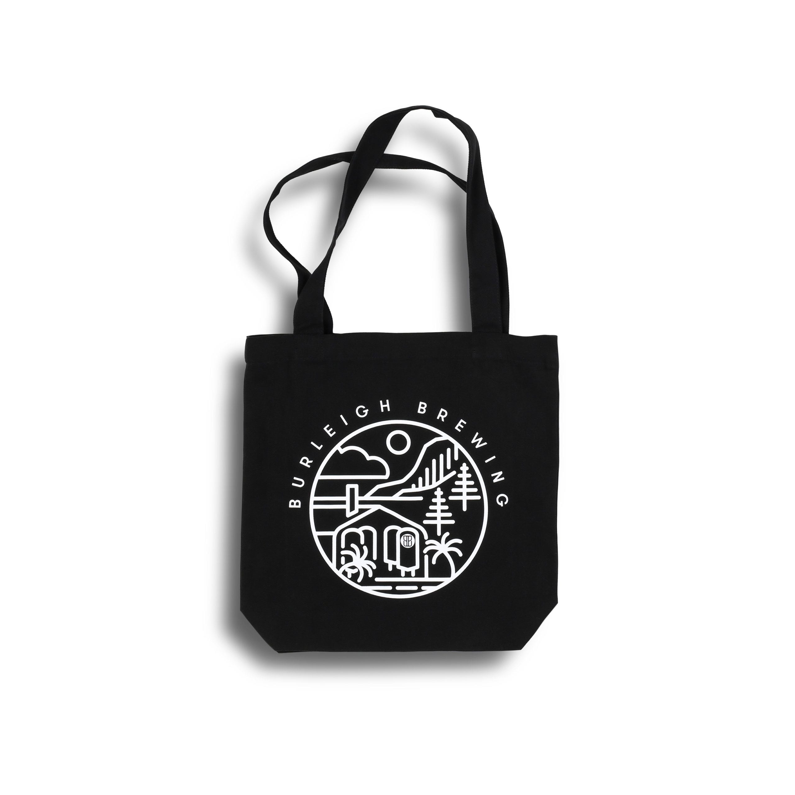 Burleigh Stencil Tote Bag - Black